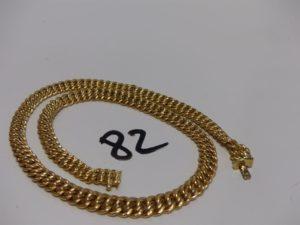 1 collier maille américaine en or (L42cm). PB 21,1g