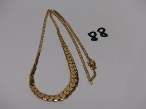 1 collier maille gourmette en or (L48cm). PB 20,8g