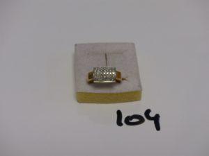 1 bague en or ornée d'1 pavage de petits diamants (Td51). PB 4,5g