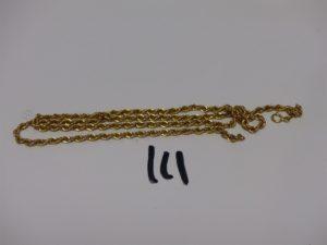 1 chaîne maille corde cassée en or.PB 4g