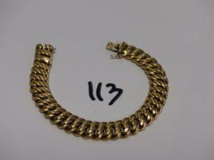 1 bracelet maille américaine en or (L20cm) PB 30,1g