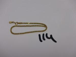 1 bracelet cassé en or. PB 2,7g