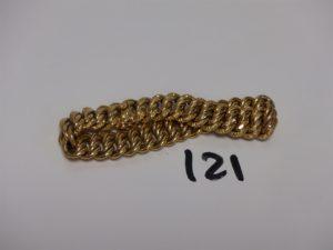 1 bracelet maille américaine en or (L19cm). PB 23,2g