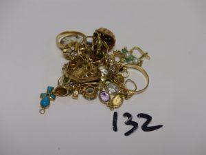 1 lot casse or , pierres et perles. PB 37,8g