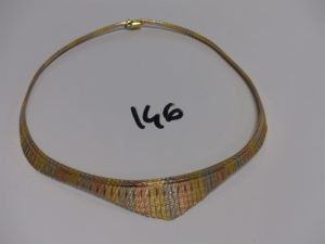 1 collier draperie 3 ors (diamètre 12,5cm) PB 32,1g