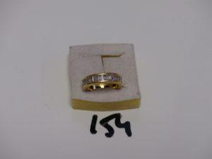 1 alliance en or sertie de diamants calibrés en tour complet (Td53). PB 7g