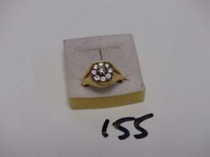 1 bague en or sertie de 9 petits diamants (Td57). PB 6,8g