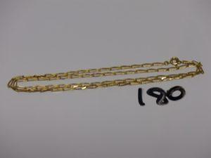 1 chaîne maille alternée en or (L52cm). PB 6,9g
