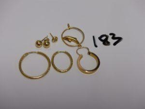 1 lot de bijoux divers en or. PB 3,5g