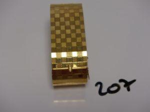 1 bracelet souple en or décor en damier (L18cm). PB 43,9g