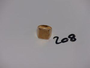 """1 chevalière en or initiales """"CE"""" (Td58). PB 17,6g"""