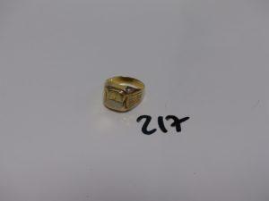 1 chevalière en alliage 14K (TD69). PB 6,3g