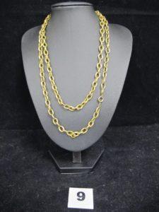 1 Sautoir en or en maille alternée (L 84 cm, fermoir ne s'ouvre pas). PB 14,8 g