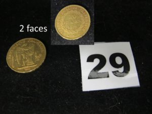1 Pièce 20fr Génie de 1889. PB 6,4g