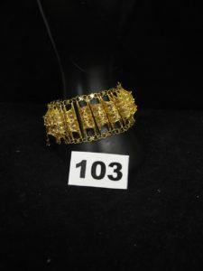 1 Bracelet or maille cigarette articulée (L20cm). PB 32g