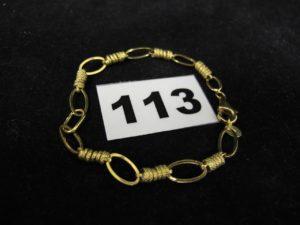 1 Bracelet en or maille alternée (L 18cm). PB 4,2g