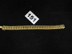 1 bracelet en maille américaine en or (L18,5cm neuf). PB 24,9g