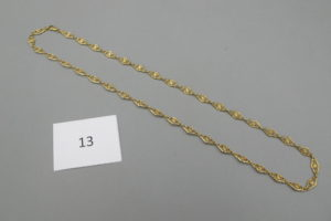 1 Collier en or maille filigranée(L60cm).PB 18,2g.