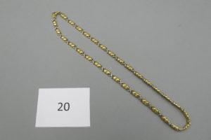 1 Collier 2 ors maille fantaisie(L40cm).PB 15,8 g.