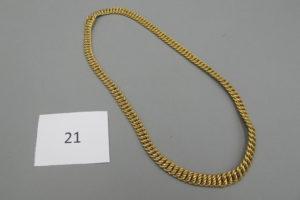 1 Collier en or maille américaine(L40cm)PB 26,8g