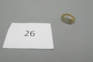 """1 Bague chevalière en or gravée des initiales""""FP""""(TD55).PB 5,2g."""