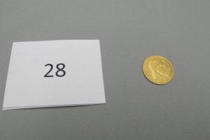 1 Pièce en or 22 K de 10 FRS de 1866 PB 3,2g.