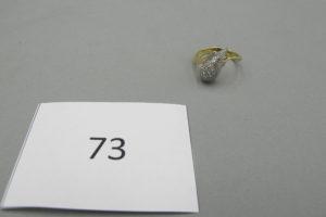 1 Bague 2 ors pavée de petits diamants (TD53).PB 4,9g.
