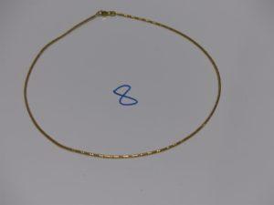 1 collier fil ras de cou (L38cm). Or 8g