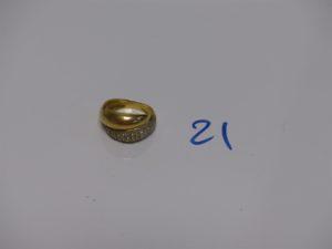 1 bague en or ornée d'un pavage de petits diamants (td50). PB 5,5g