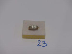 1 bague en or ornée de petits diamants (td51). PB 3,3g