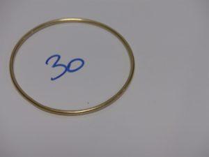 1 bracelet jonc en or (diamètre 6,5cm). PB 11,4g