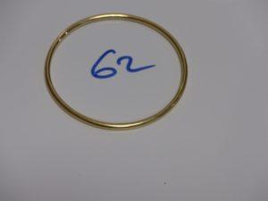 1 Bracelet jonc en or (diamètre 6cm). PB 18,2g