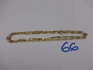 1 chaîne maille alternée en or (L46cm). PB 7,1g