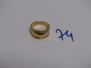 1 bague demi-jonc en or (td51). PB 5,2g