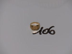 1 chevalière en or (td50). PB 6,3g