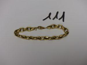 1 bracelet maille tressée abimé en or (L20cm). PB 10,7g