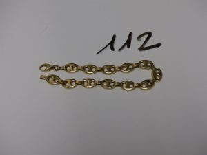 1 bracelet maille grain de café en or (L19cm). PB 8,9g