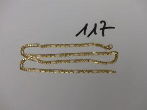 1 chaîne maille marine en or (L51cm). PB18,9g