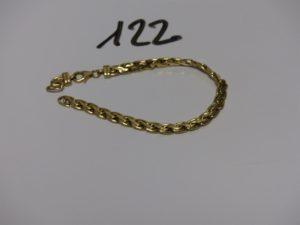 1 bracelet maille festonnée en or pour la casse. PB 7,2g