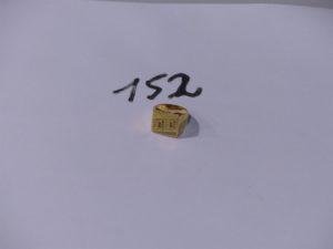 1 chevalière gravée en or (td53). PB 12g