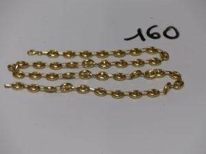 1 collier maille grain de café en or (L54cm). PB 21,3g
