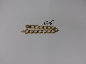 1 bracelet en or à décor d'anneaux articulés (L18cm). PB 25,9g