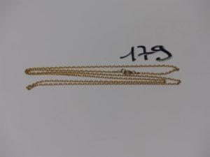 1 chaîne maille forçat en or (L74cm). PB 7,7g
