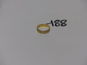 1 alliance bicolore en or (td60).PB 6,3g