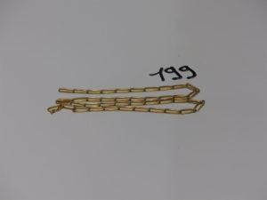 1 chaîne maille alternée en or (L52cm). PB 22,3g