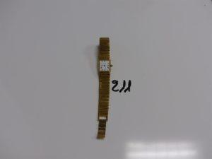 1 montre dame de marque LEONARD, bracelet et boitier en métal (ref 52/370)(Hors service)
