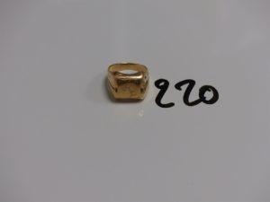 1 chevalière gravée en or (td60, un peu cabossée). PB 6,6g