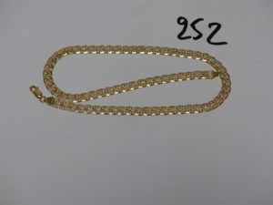 1 collier maille fantaisie en or (L42cm). PB 17,9g
