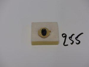 1 chevalière en or onyx cassée (td53). PB 6g