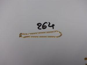 1 bracelet maille marine en or (L18cm). PB 3,2g